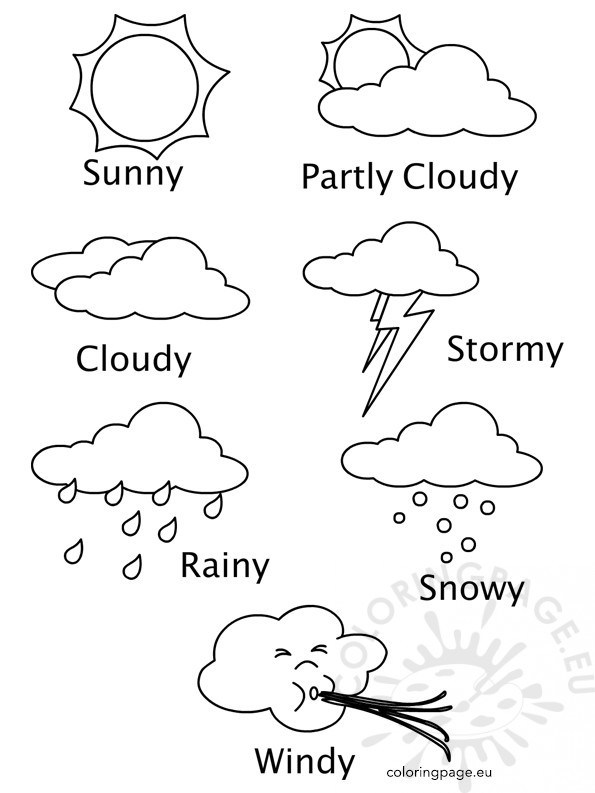595x793 Sunny Weather Coloring Pages