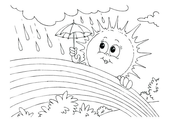 600x425 Weather Coloring Page Weather Coloring Page Thermometer Coloring