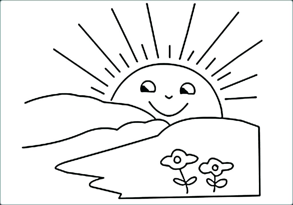 1024x717 Sun Coloring Page Sun And Moon Coloring Pages The Sun Coloring