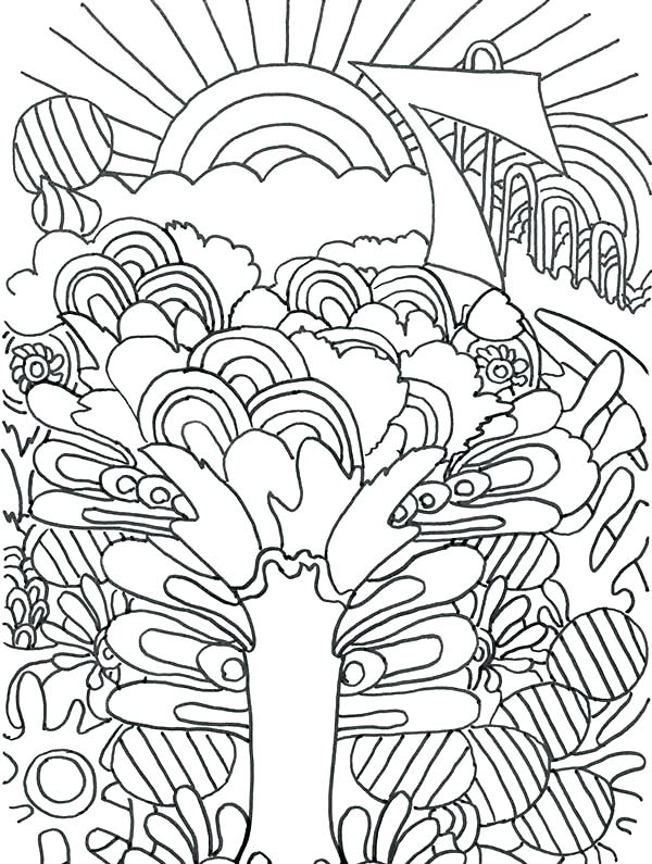 600x795 Trippy Coloring Pages Coloring Book Sunrise Coloring Pages Trippy
