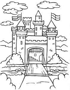 236x303 Castle Front Coloring Pages