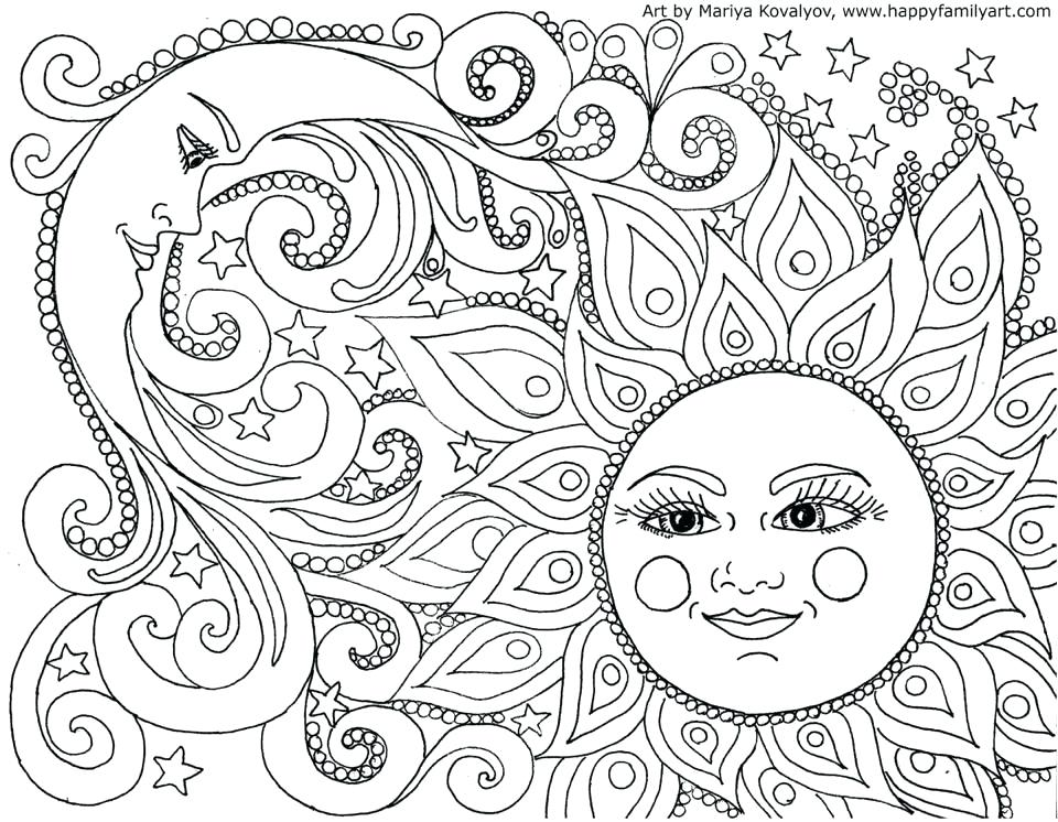 960x746 Sun Coloring Pages Sun And Moon Coloring Page Free Printable