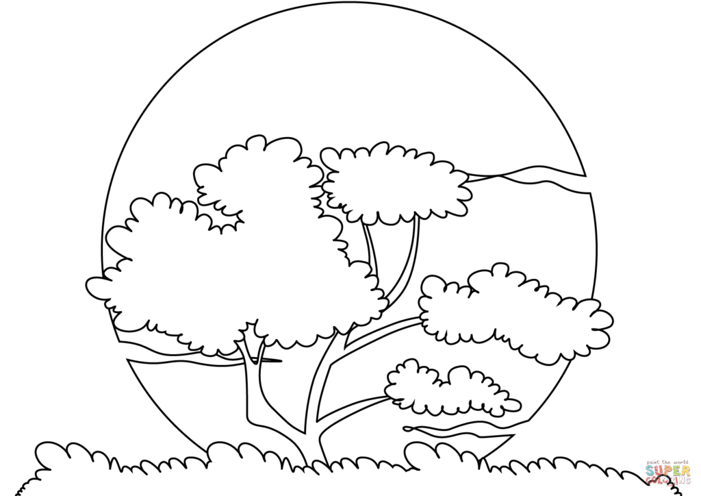 1024x724 Sunset Coloring Pages Get Bubbles