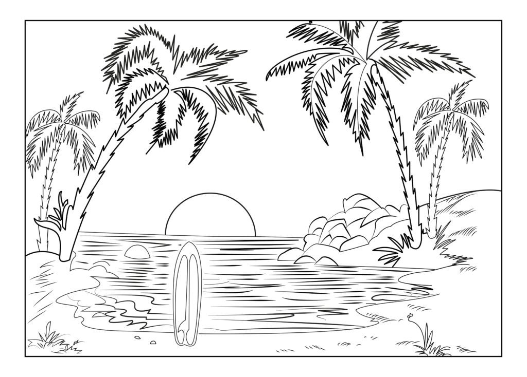 1024x734 Sunset Coloring Pages Sunset Coloring Pages Sunset Coloring Pages