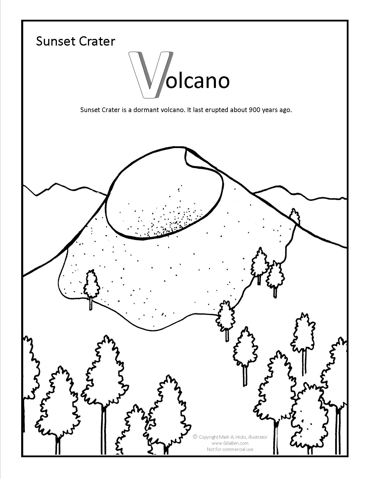 1275x1650 Sunset Crater Coloring Page