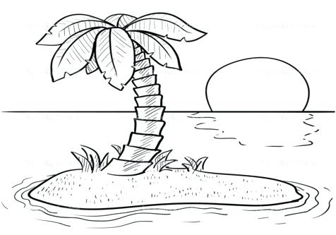 Sunset Beach Coloring Page - Free Holidays Coloring Pages ... | 333x476