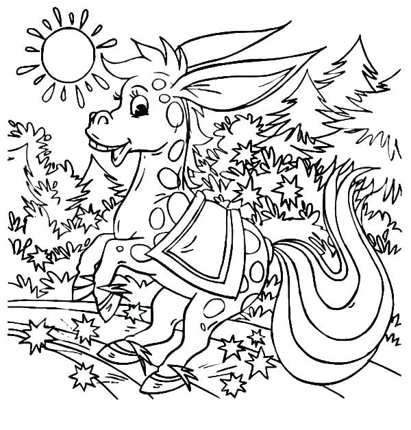 600x627 Magical Coloring Pages Sunset Coloring Pages A Magical Donkey