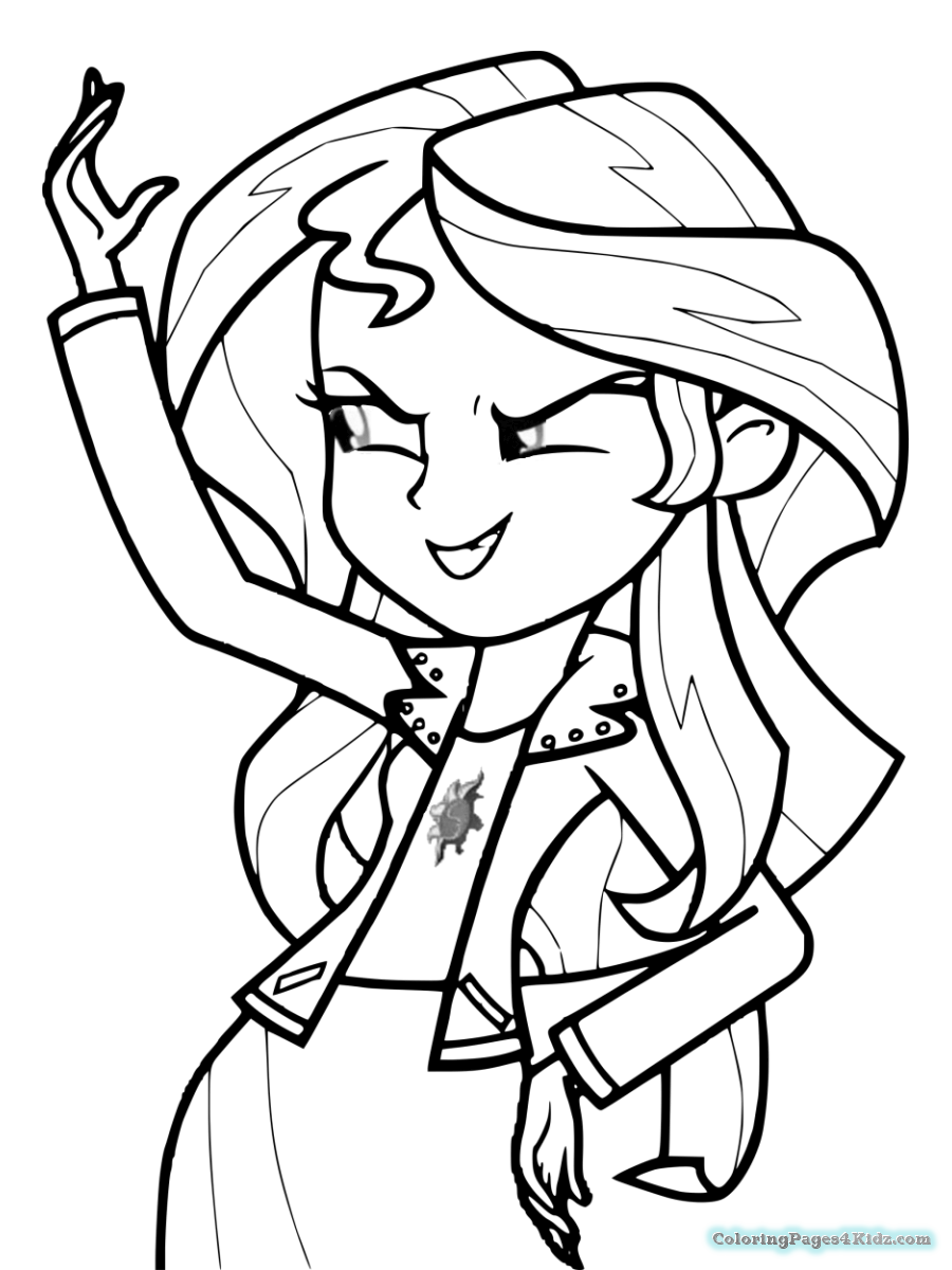 900x1200 My Little Pony Sunset Shimmer Coloring Pages Coloring Pages For Kids