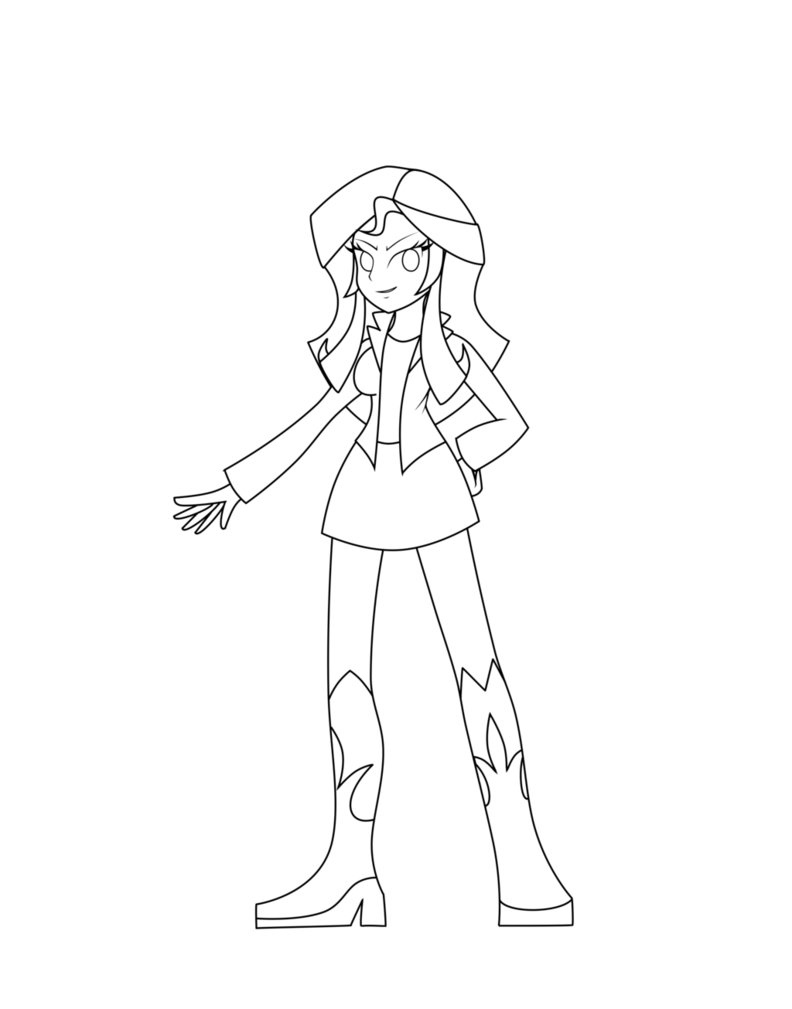 792x1009 Sunset Shimmer Equestria Girls Coloring Pages