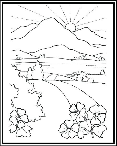 447x559 Sunset Coloring Pages