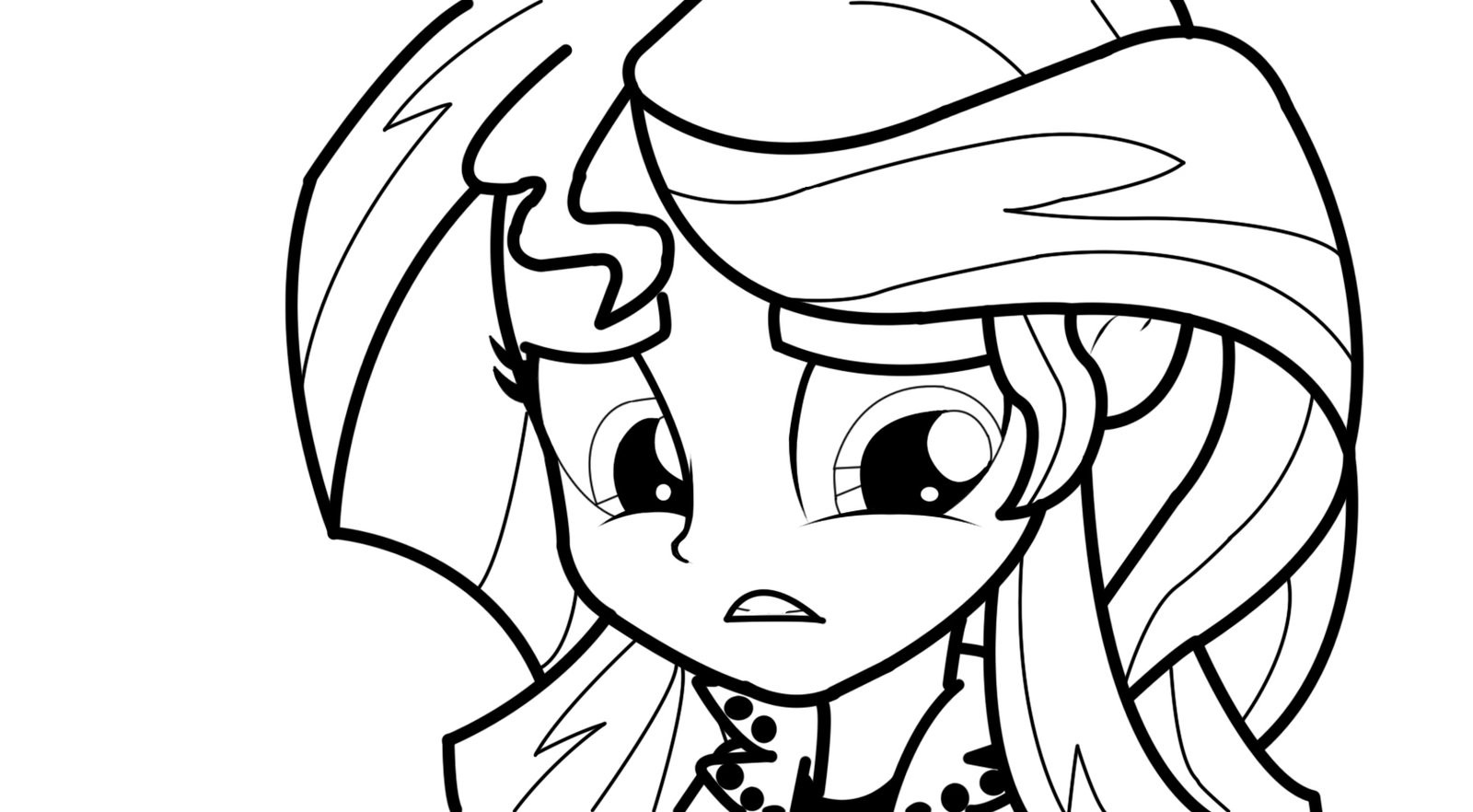1600x882 Equestria Girls Sunset Shimmer Coloring Pages Expression Test