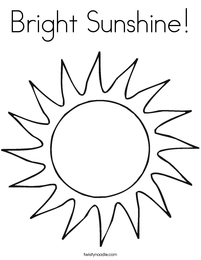 685x886 Bright Sunshine Coloring Page