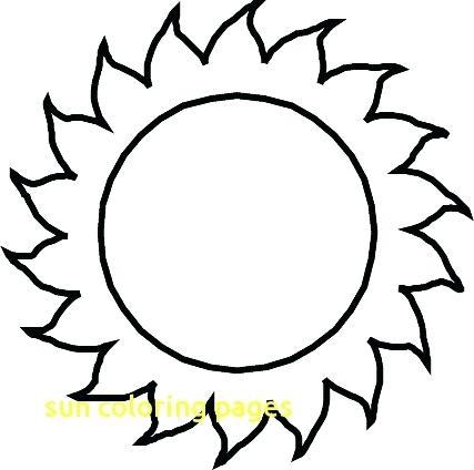 427x424 Sun Coloring Page Teleks Site
