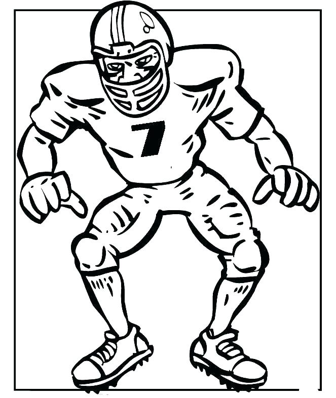 663x786 Football Player Coloring Sheets Football Players Coloring Pages