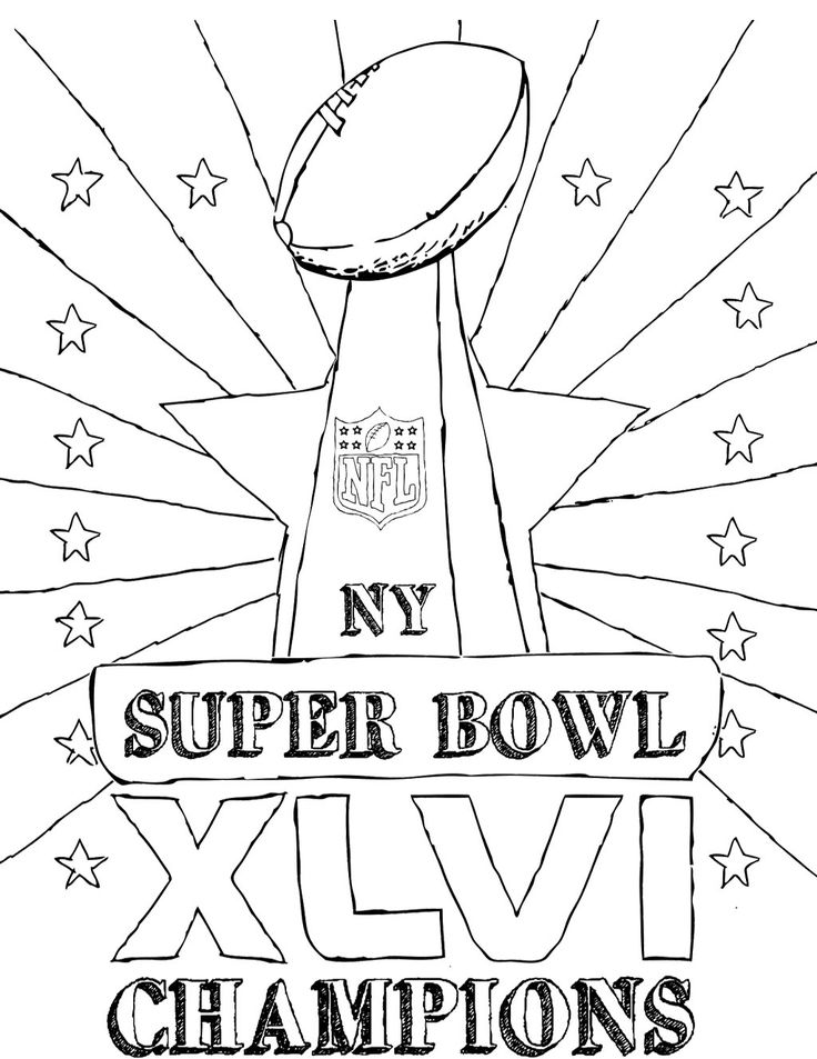 736x953 Best Super Bowl Trophy Coloring Pages Images