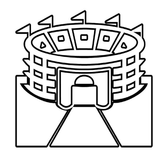 630x612 Pictures Stadium Super Bowl Coloring Pages Football Fun
