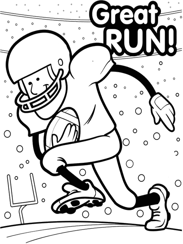 600x800 Super Bowl Coloring Pages
