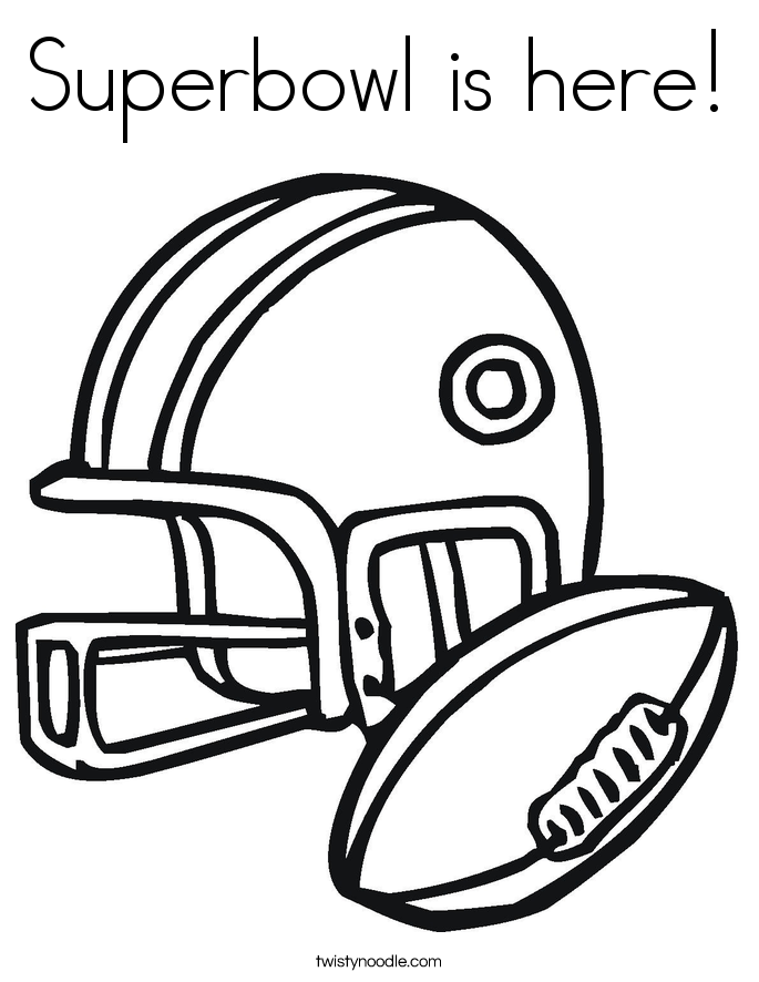 685x886 Superbowl Is Here Coloring Page