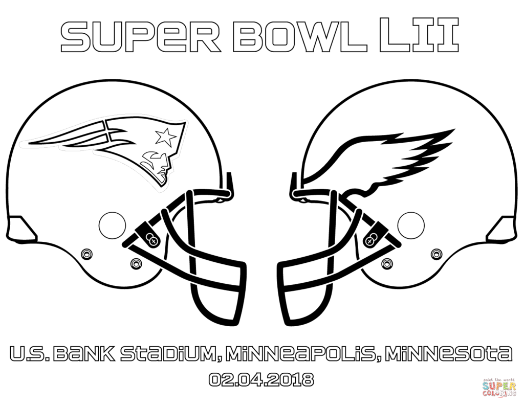 1024x792 Coloring Pages Super Bowl