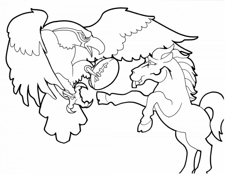 768x596 Super Bowl Coloring Copy Broncos Pages Many Interesting