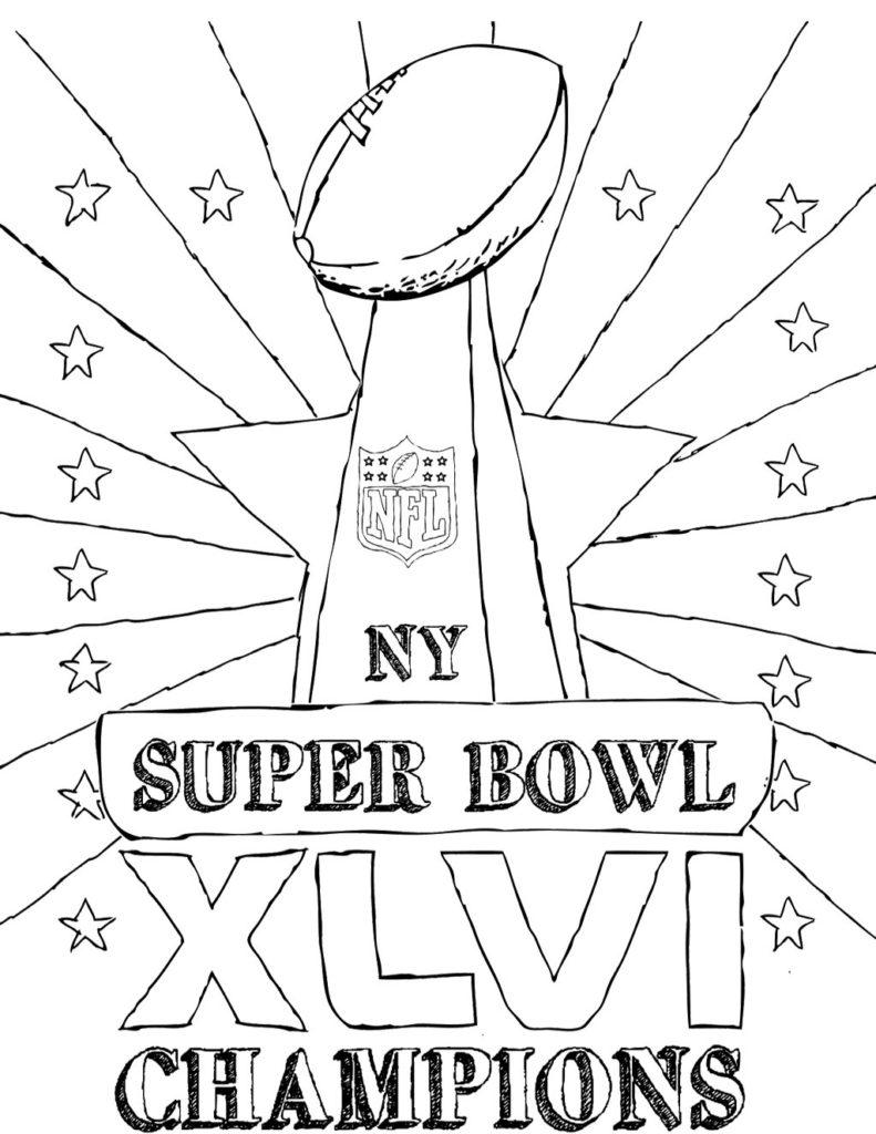 791x1024 Super Bowl Coloring Page