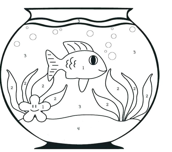 678x600 Bowl Coloring Pages Goldfish Coloring Page Lovely Fish Bowl