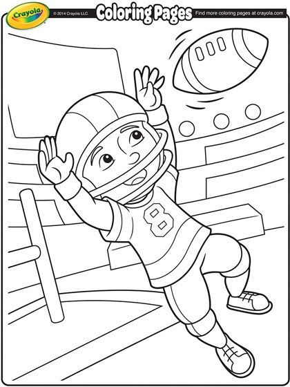 420x560 Football Coloring Page