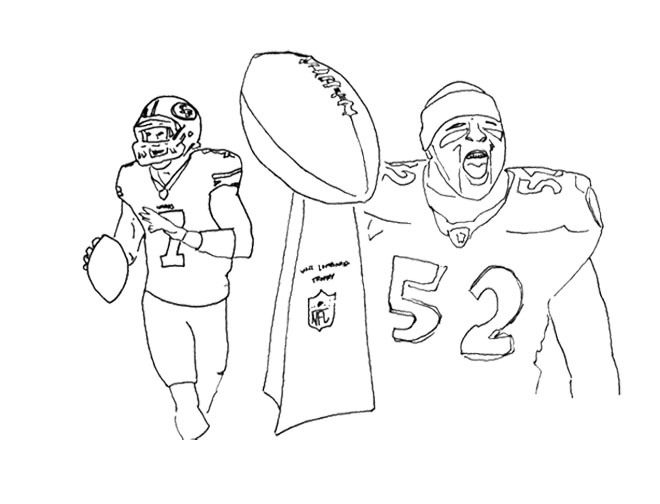 660x504 Super Bowl Lineart Drawing Coloring Page