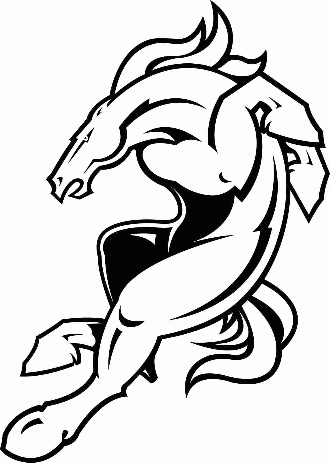 1141x1600 Bronco Horse Jumping Coloring Page With Pages
