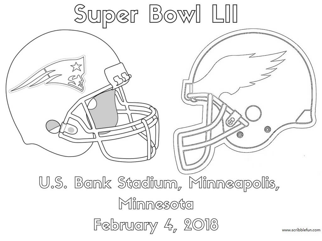 1024x768 Coloring Pages Super Bowl