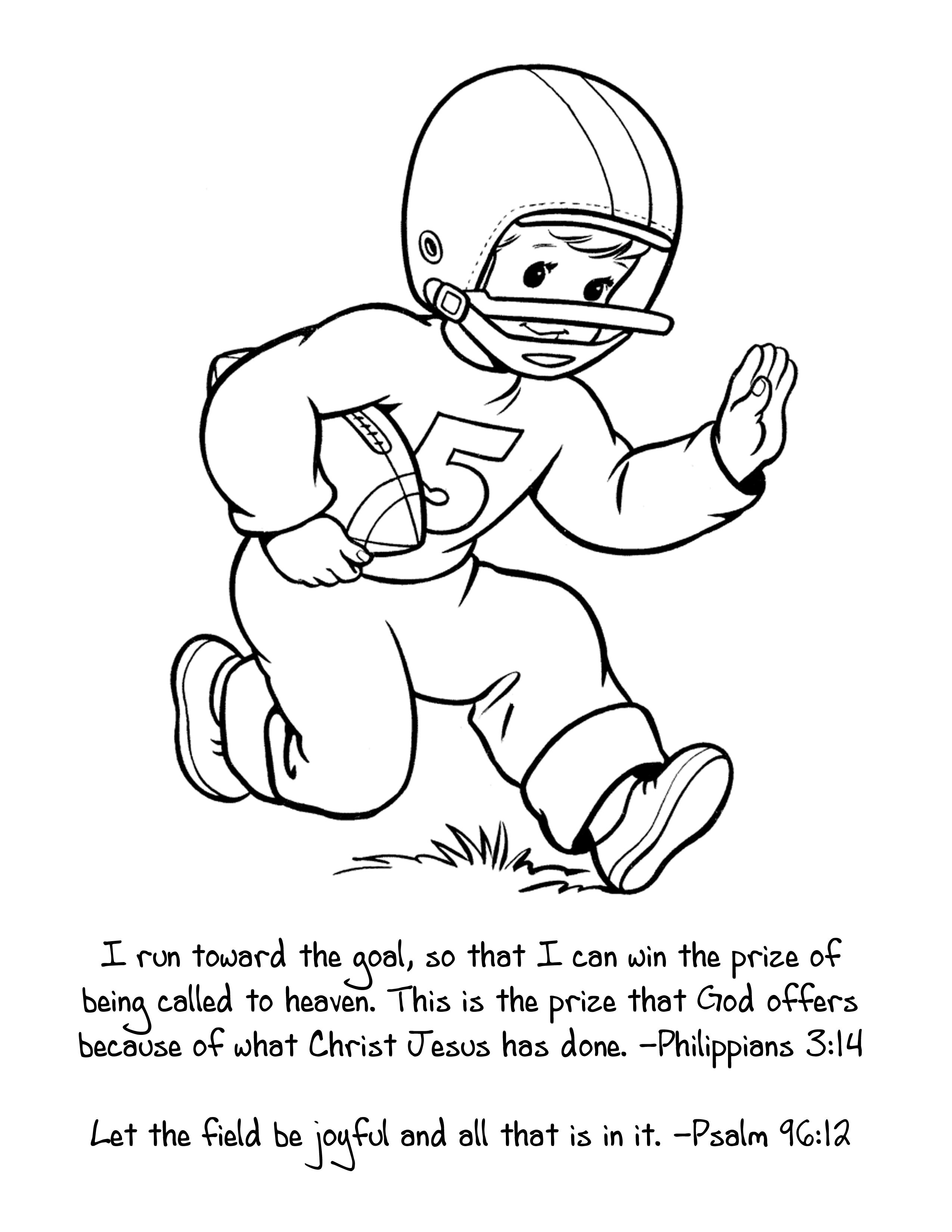 2550x3300 Perfect Sunday School Coloring Sheet For Super Bowl Sunday I Run