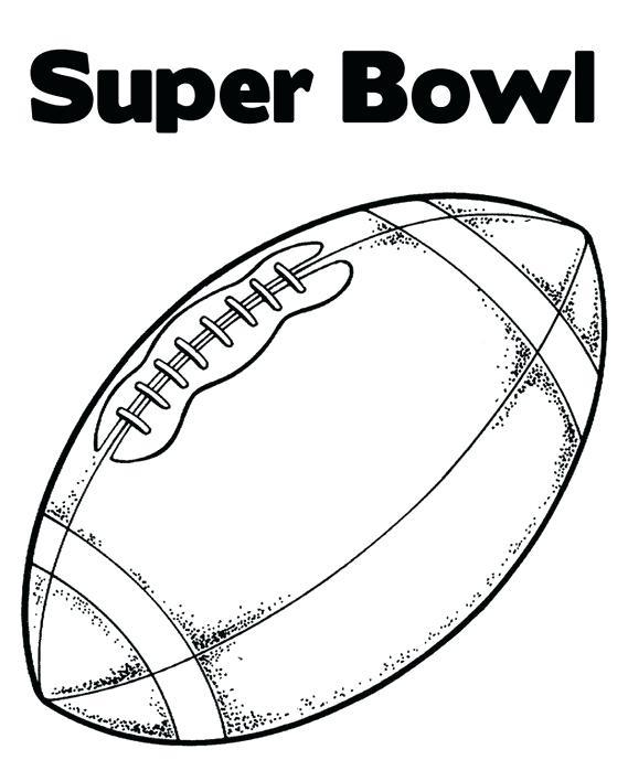 Super Bowl Coloring Pages At Getdrawings Com
