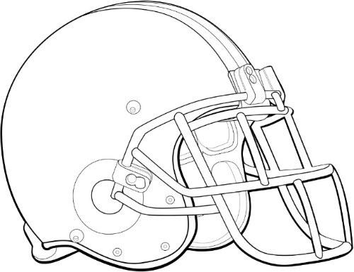 500x385 Coloring Pages Football Helmet, Print Football Football Helmet
