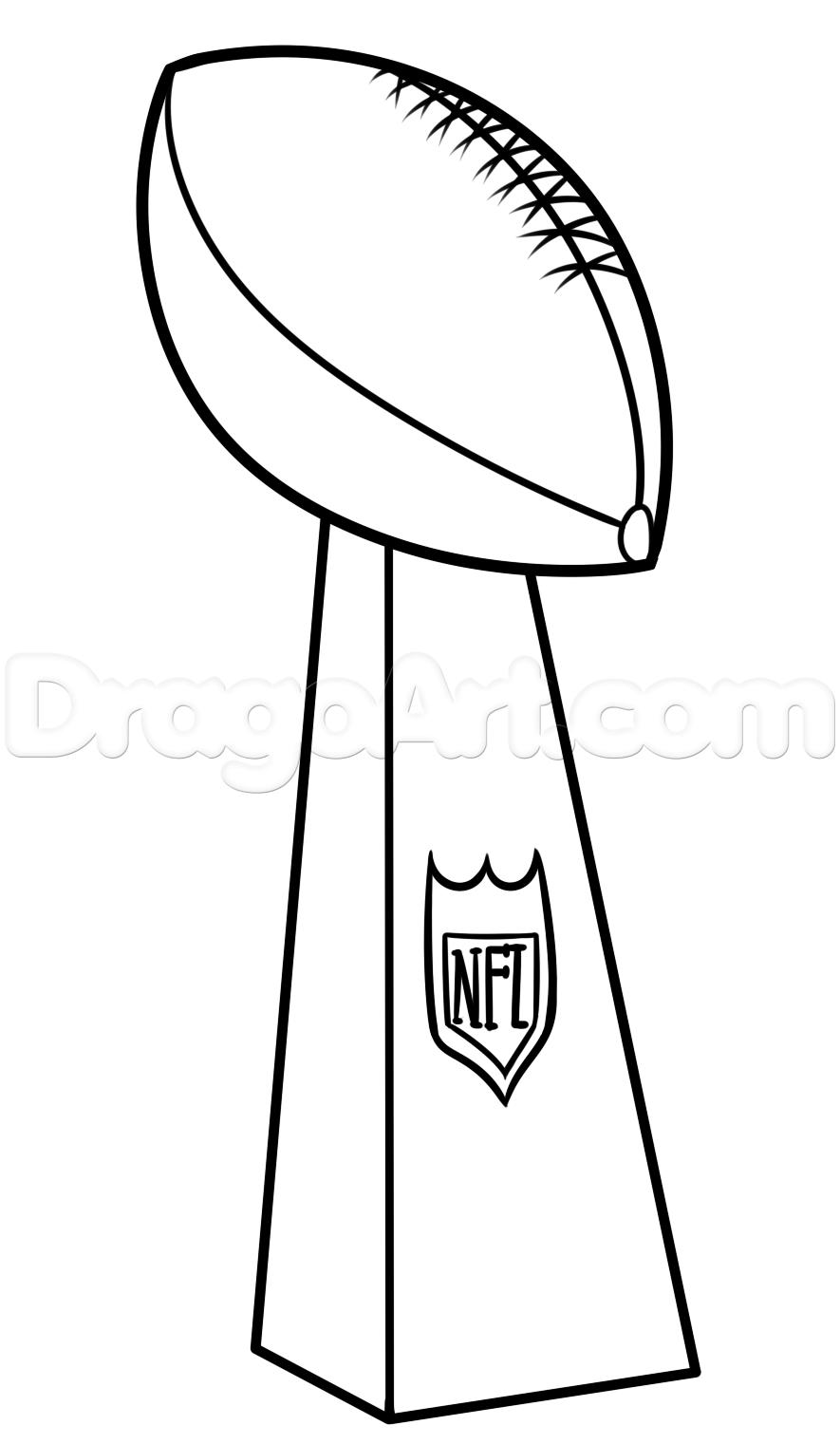 885x1521 Super Bowl Vince Lombardi Trophy Coloring Page