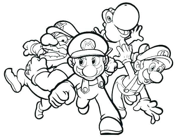 600x465 Mario Kart Coloring Pages Super Coloring Pages Kart Coloring