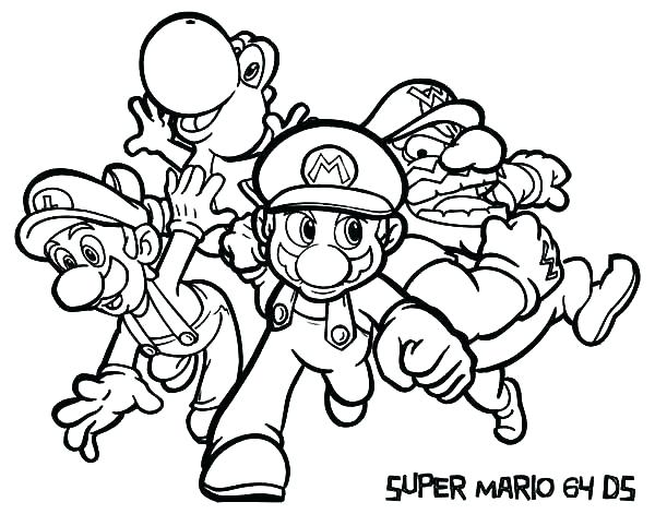 600x471 Super Mario Galaxy Coloring Pages Super Coloring Pages Bros