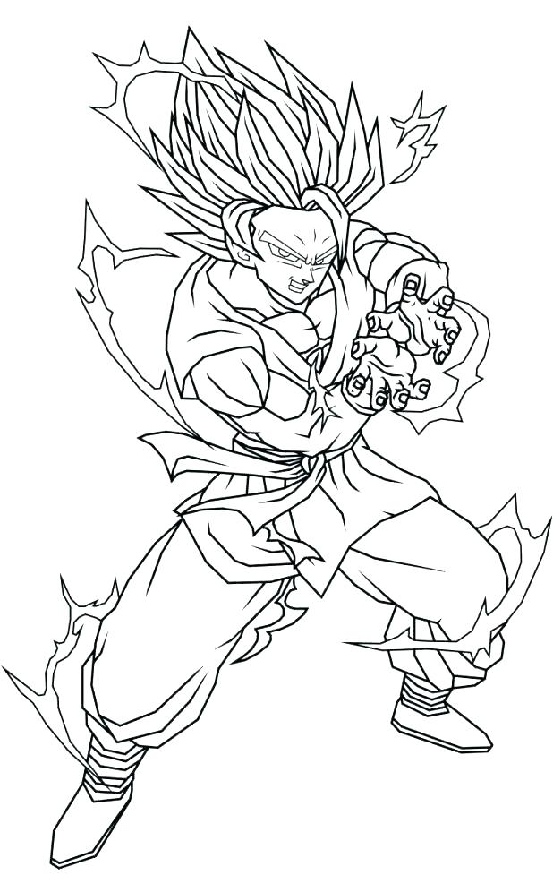 618x977 Super Saiyan Coloring Pages Super Coloring Page Goku Super Saiyan