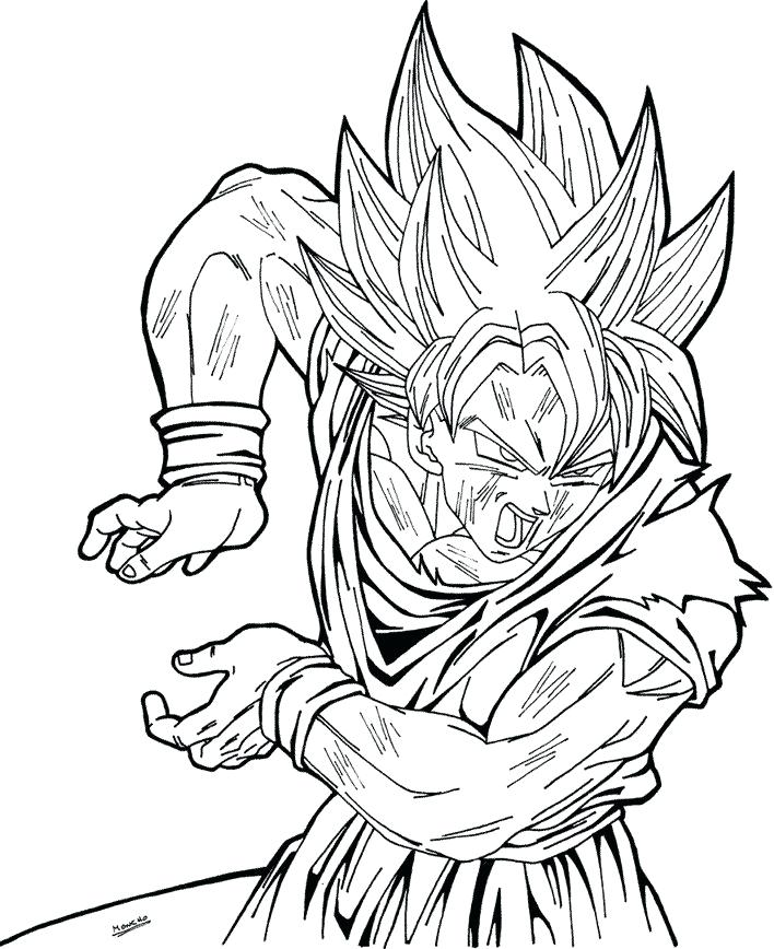 708x868 Super Saiyan Coloring Pages Super Coloring Pages Coloring Pages