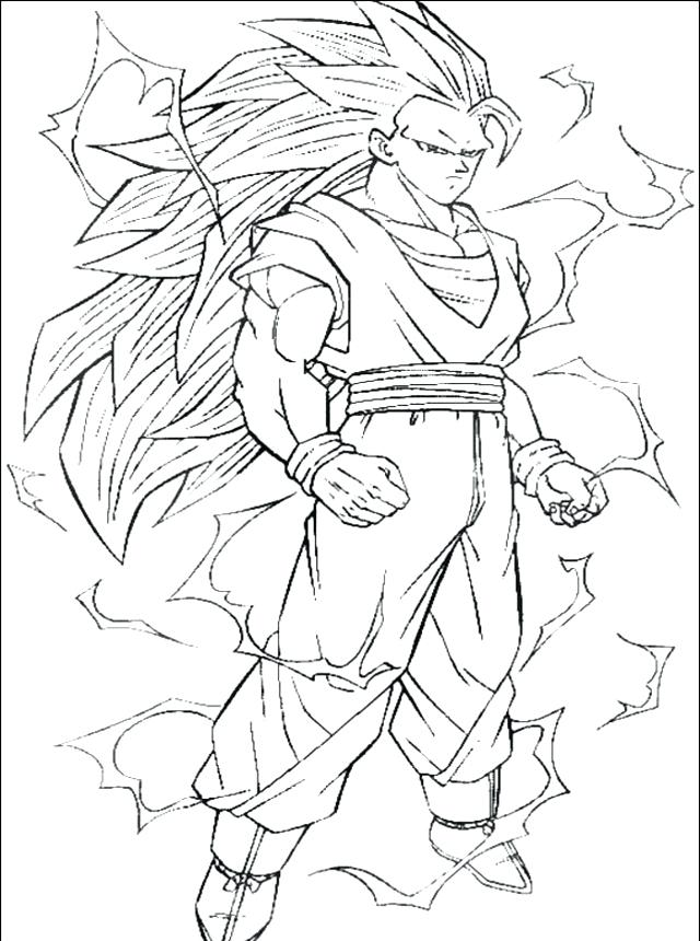 640x860 Goku Super Saiyan Coloring Pages Super Coloring Pages Super