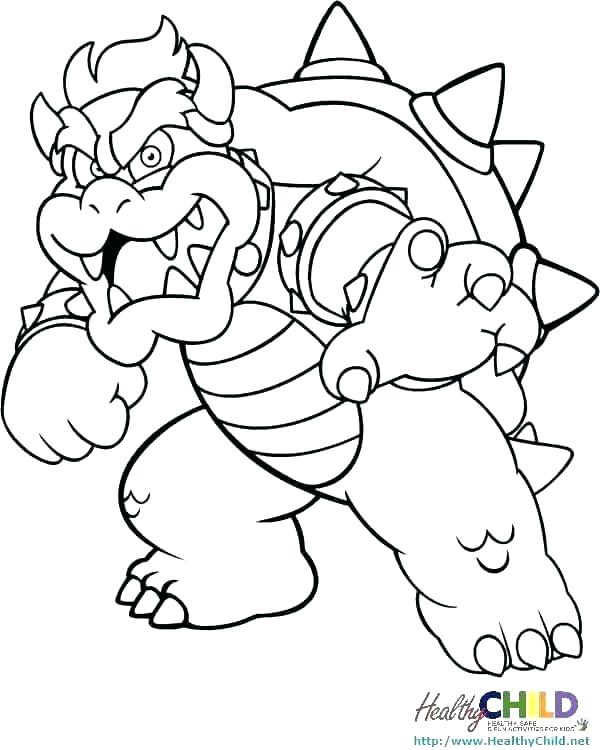 600x750 Super Mario Coloring Sheets Printable Icontent