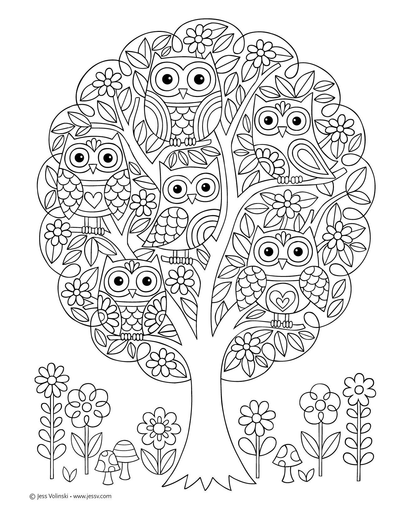 1275x1631 Notebook Doodles Super Cute Coloring Activity Book
