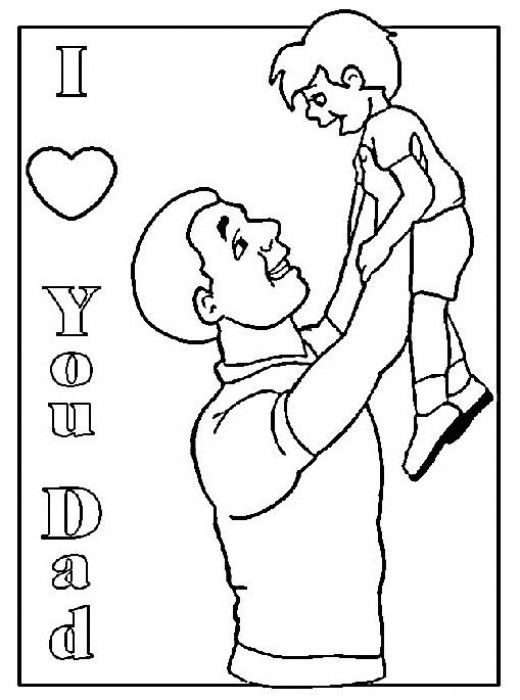 Super Dad Coloring Pages