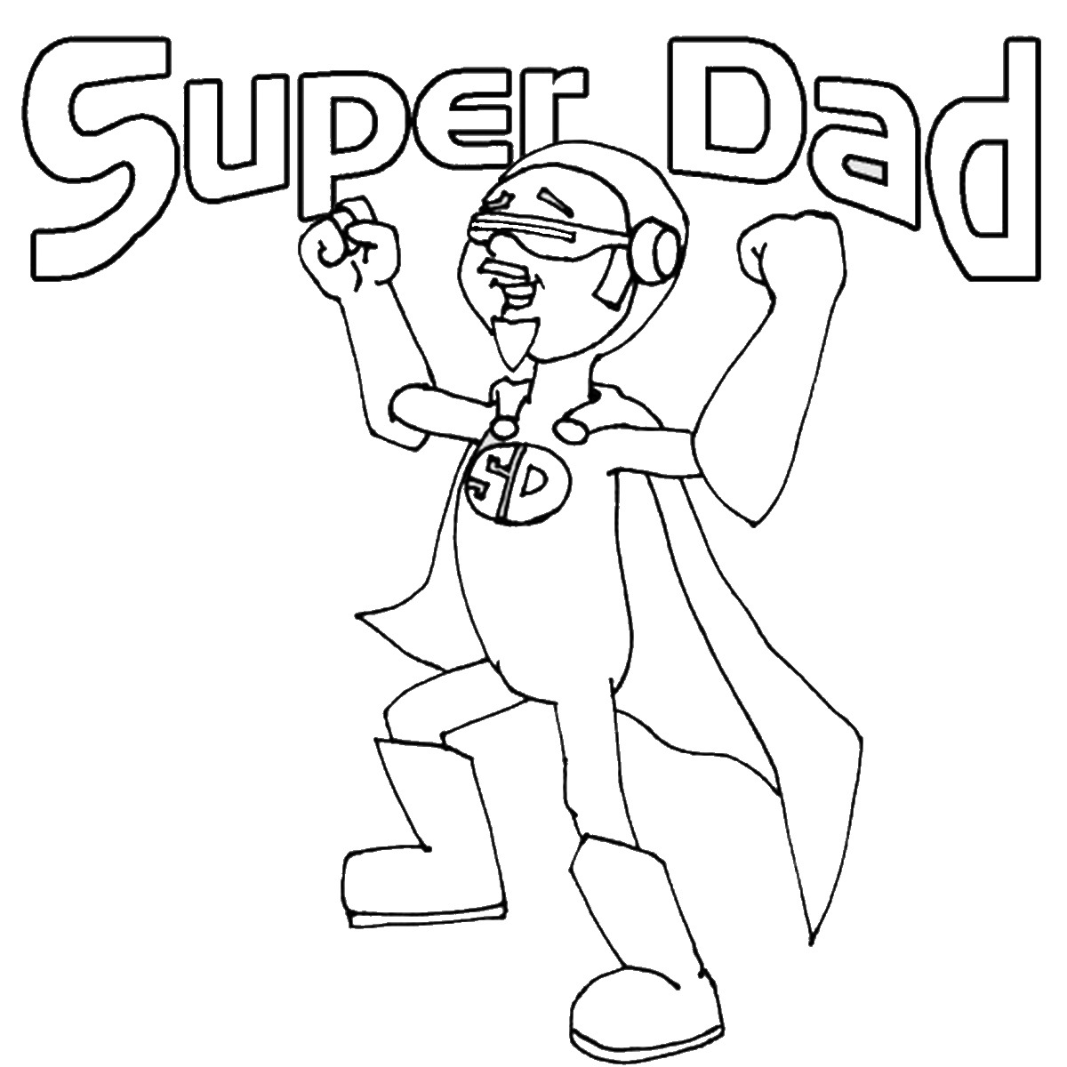 1200x1200 Father's Day Coloring Pages