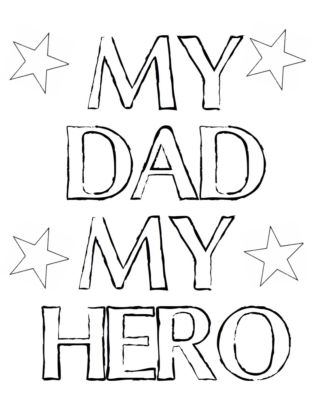 1275x1650 Fathers Day Super Dad Coloring Pages