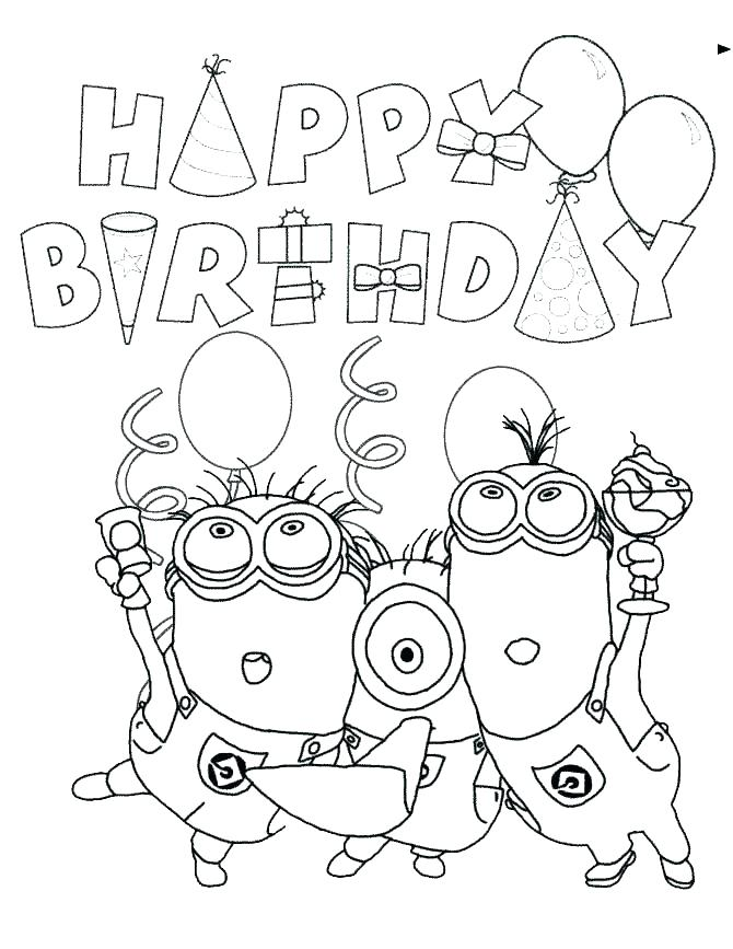 The Best Free Birthday Coloring Page Images Download From