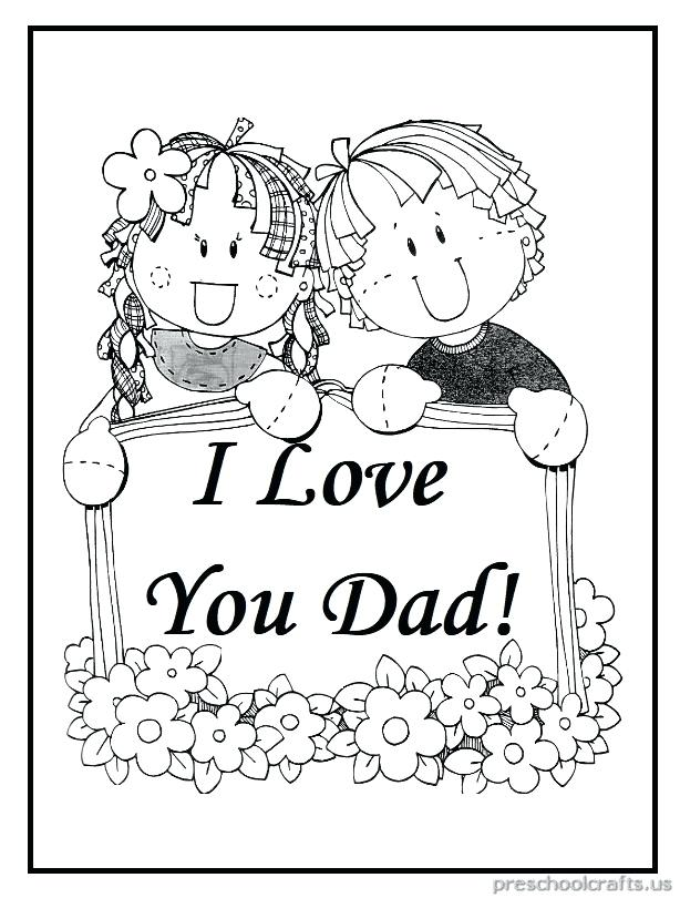 614x810 I Love Dad Colouring Pages Printable Coloring Interesting I Love