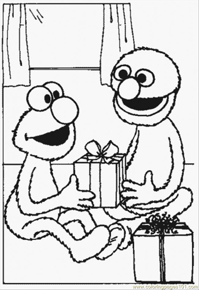 650x945 Normal Grover Coloring Page