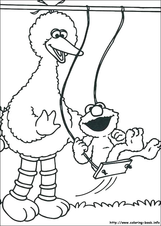 567x794 Grover Coloring Page