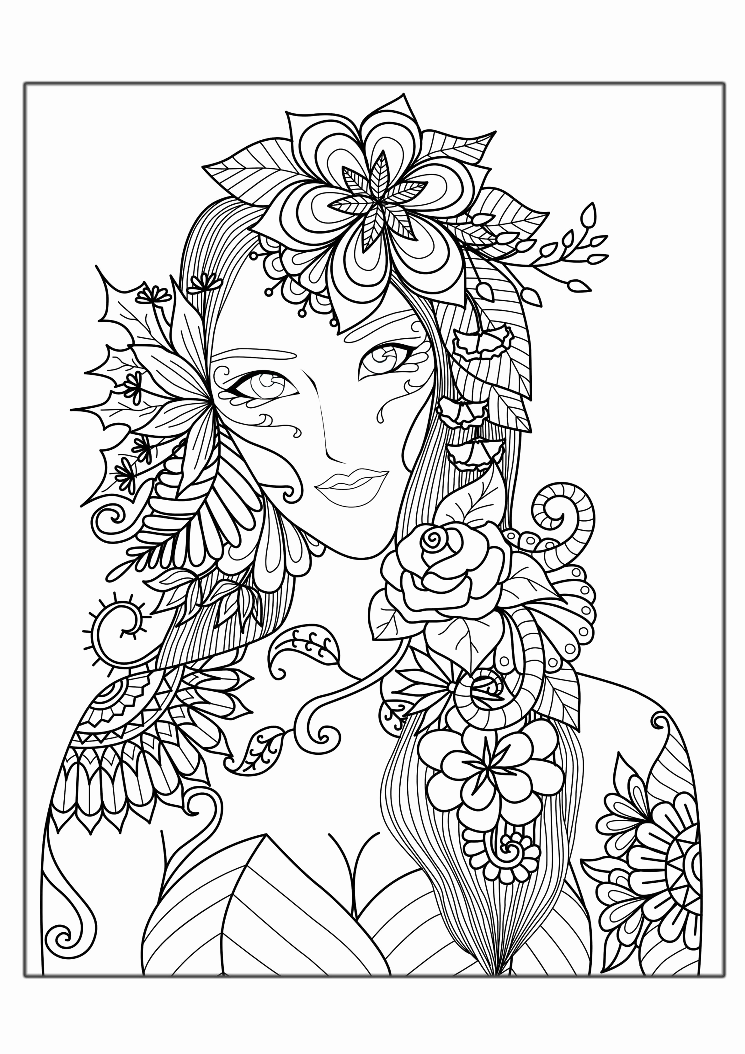 2480x3508 Detailed Coloring Pages To Download And Print For Free Within