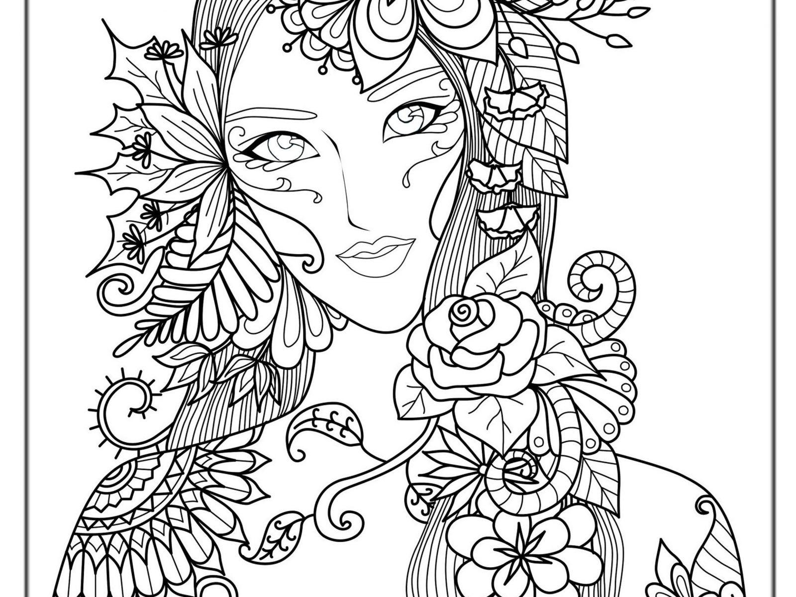 1600x1200 Free Online Hard Coloringges Christmas Adults Printable Color